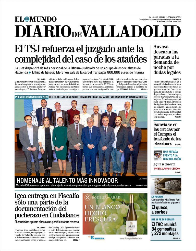 Recibimos el premio a la innovación del diario El Mundo de Castilla y León